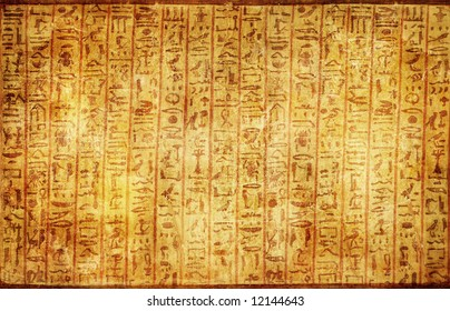 ancient egyptian parchment with  hieroglyphics