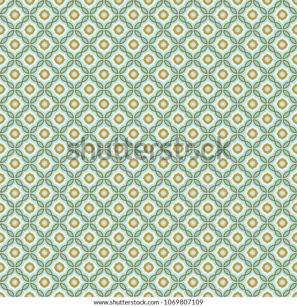 Ancient Geometric Pattern Repeat Fabric Print Backgrounds