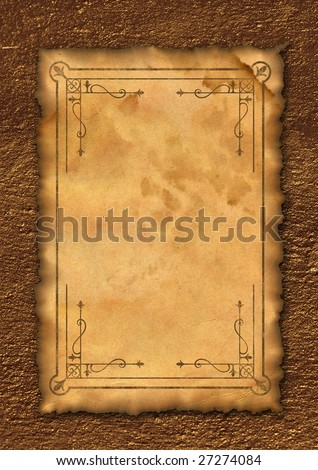 Ancient Roll Template Letter Writing Old Stock Illustration 27274084 ...