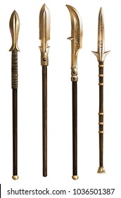 Ancient spears. Fantasy. Set