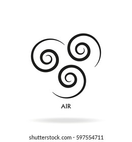 Ancient symbol of Air element with subscribe.