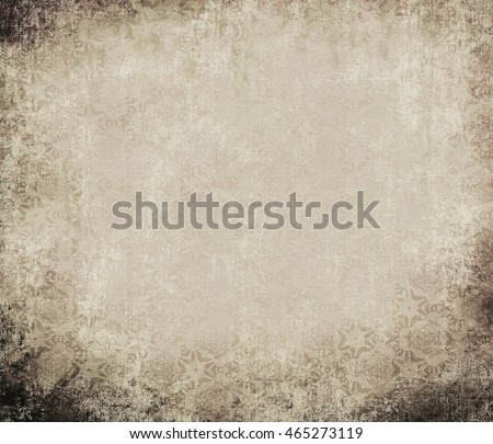 Ancient wall-paper grunge on a rough cloth, gray-brown. Vintage background. Basis for the text or design.