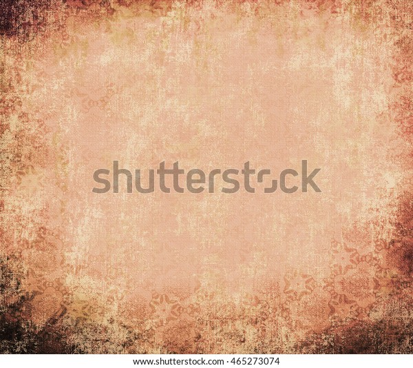 Ancient wall-paper grunge on a rough cloth, cream. Vintage background. Basis for the text or design.