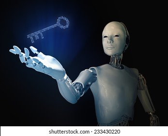 Android holding a binary code key