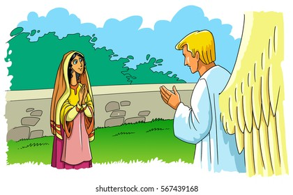 The angel Gabriel tells Mary about the birth of Jesus Christ (Christmas story)
