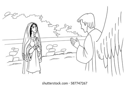 Mary Angel Gabriel Images Stock Photos Vectors Shutterstock