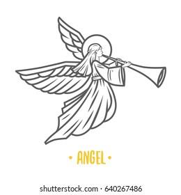 Angel god, illustration.