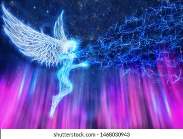 the angel sends the energy of goodness