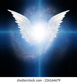 Angel winged Elements of this image furnished by NASA