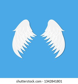 angel wings blue background
