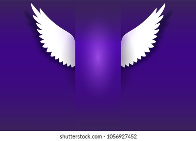 angel wings golden halo hovering on stock illustration 696971326