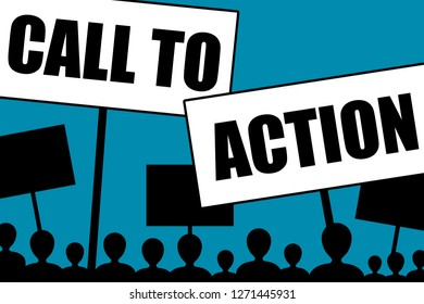 Angry and malcontent citizens calling to action