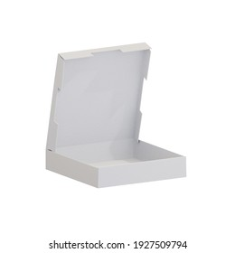 angular ortographic view white carton paper cardboard long food box cake packaging with hand holder Type N mock up template camera type digital design graphic 3d hd illustration