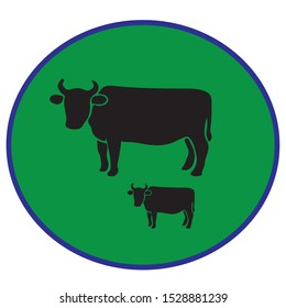 animal cow logo design for your company,