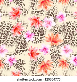 animal flower background