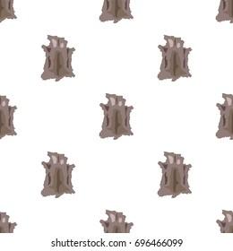 Animal hide icon in cartoon style isolated on white background. Stone age symbol stock bitmap, raster illustration.