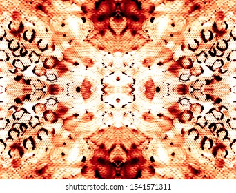 Animal Paint Background. Bronze Seamless Paper. Orange Grunge Animal Background. Texture Leopard Pattern. Bronze Tiger Stripe. Orange Seamless Camouflage.