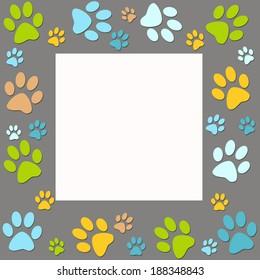 Animal paws   frame