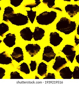 Animal print. Abstract pattern with animal print and spot. Leopard animal watercolor background. Fabric decor.