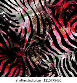 animal print flowers pattern