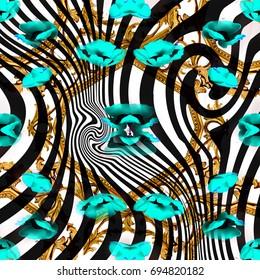 Animal print, leopard texture background,zebra patern,flowers patern
