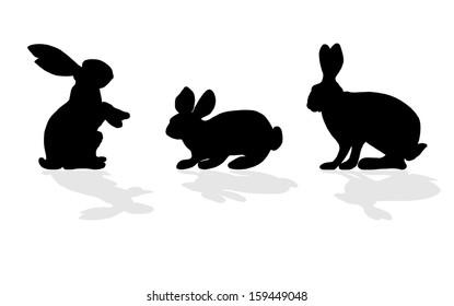 animal - rabbit silhouette