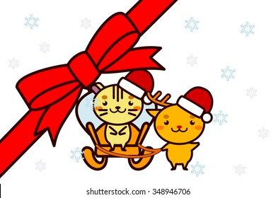 Animal series of Christmas frame