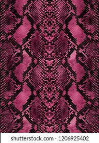 Animal snake skin fuchsia texture for concept of nature