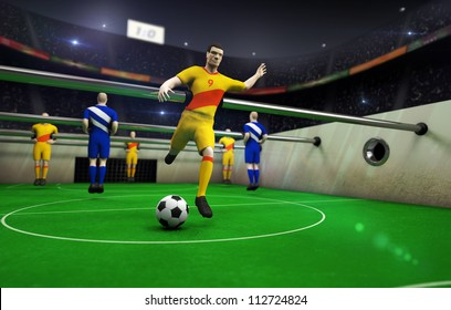 animated table football