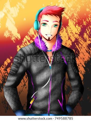 Anime Boy Stock Illustration 749588785 Shutterstock