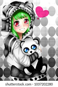 Anime panda girl
