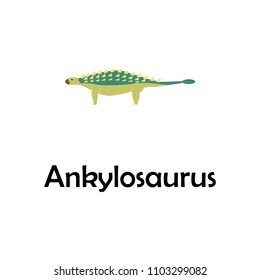 ankylosaurus illustration. Element of travel icon for mobile concept and web apps. Thin line ankylosaurus icon can be used for web and mobile. Premium icon on white background