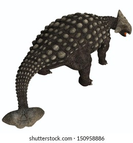 Ankylosaurus Isolated - A huge armored dinosaur, Ankylosaurus was a herbivore from the Cretaceous Era.