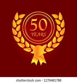 Anniversary, 50 years multicolored icon. Can be used for web, logo, mobile app, UI, UX