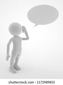 announcement or talking communication concept 3d illustration rendering