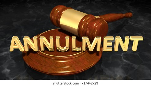 Annulment Legal Gavel Concept 3D Illustration