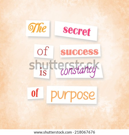 Anonymous Style Quote The Secret Success Stock Illustration