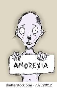 Anorexia nervosa doodle