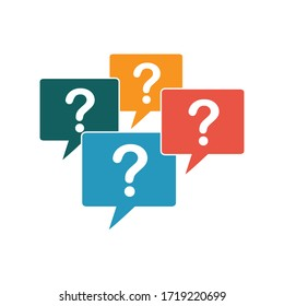 answer and question icon for asking