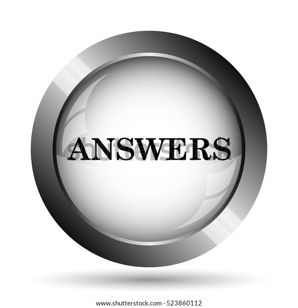 Answers Icon Answers Website Button On Stock Illustration 523860112