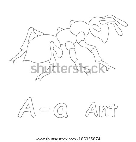 Ant Coloring Page Stock Illustration 185935874 - Shutterstock