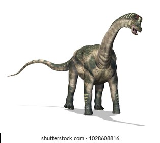 The Antarctosaurus was a dinosaur that lived during the Cretaceous period - 3d render.