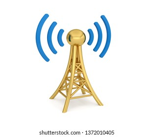 antenna network 3G 4G 5G wireless transmission 3D illustration