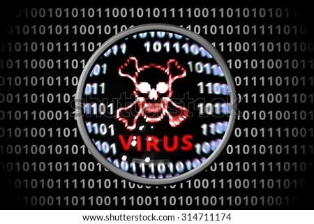 Royalty Free Stock Illustration of Anti Virus Software Found Virus