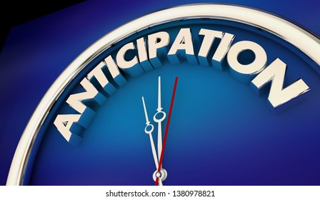Anticipation Eagerly Awaited Countdown Clock Time 3d Illustration