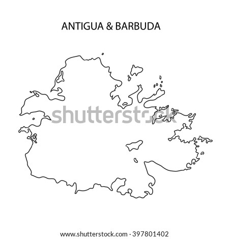 Royalty Free Stock Illustration of Antigua Barbuda Map Outline Stock ...
