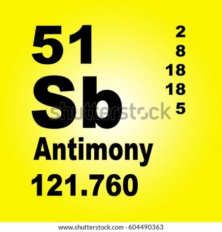 Antimony Periodic Table Elements Stock Illustration 604490363