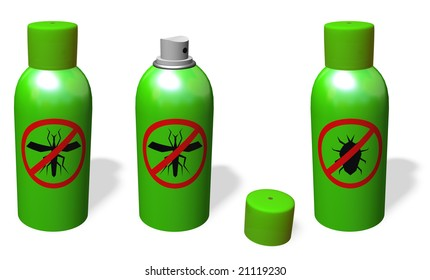 ANTI-MOSQUITO  AND ANTI-BUG SPRAY. OPEN AND CLOSE.