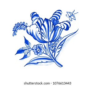 antique, aquarelle, arrangement, art, authentic, background, beautiful, bloom, blossom, blue, bouquet, butterfly, card, ceramic, china, cobalt, composition, corsage, decorative, delft, design, eastern