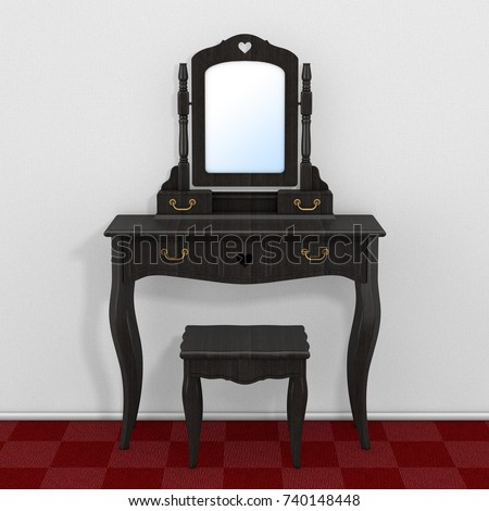 Royalty Free Stock Illustration Of Antique Bedroom Vanity Table